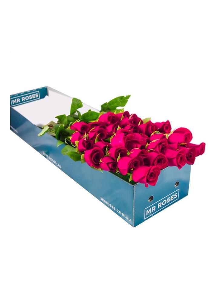 12 Fresh Long Pink Roses image 1