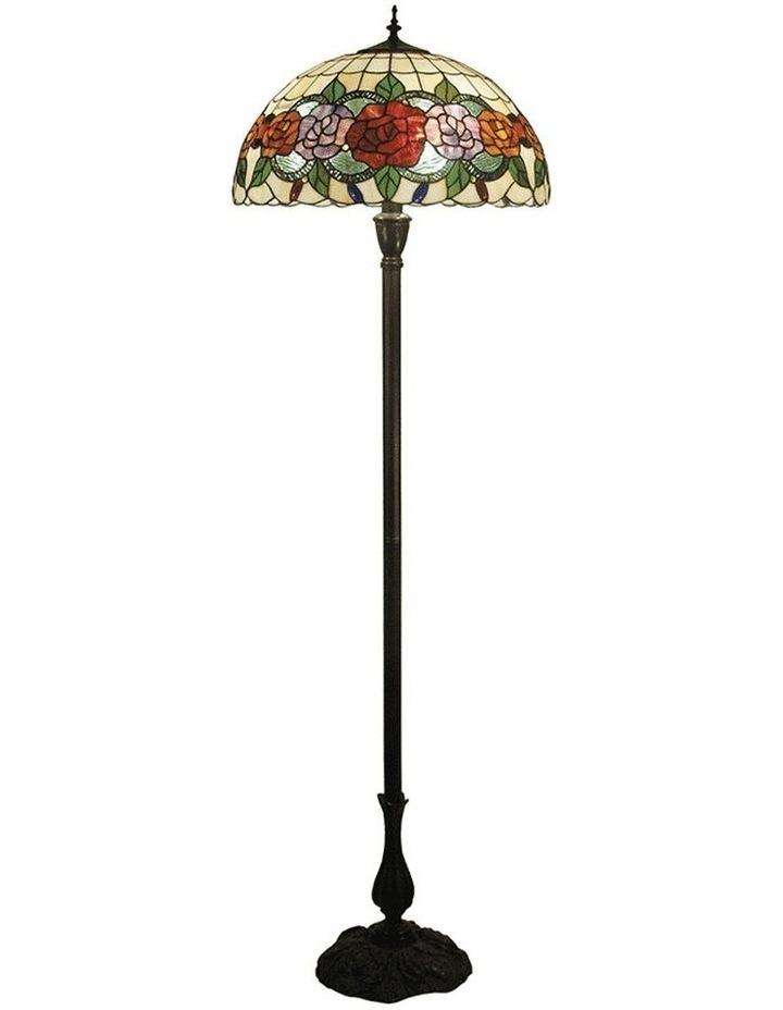 Red Rose Tiffany Floor Lamp image 1