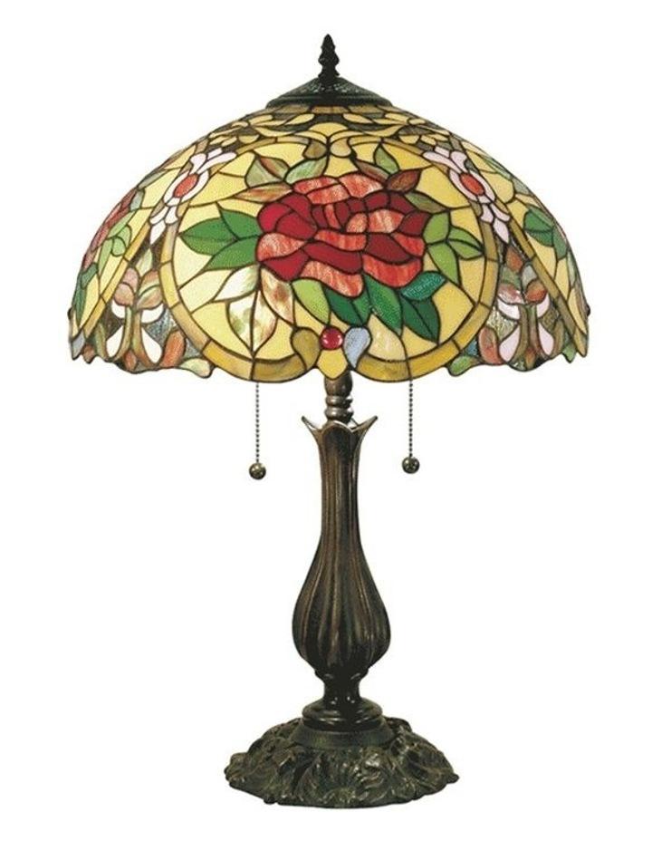 Large Camellia Tiffany Table Lamp image 1