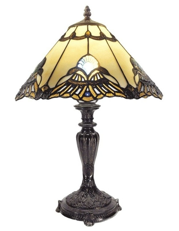 Benita Leadlight Tiffany Table Lamp - Beige image 1