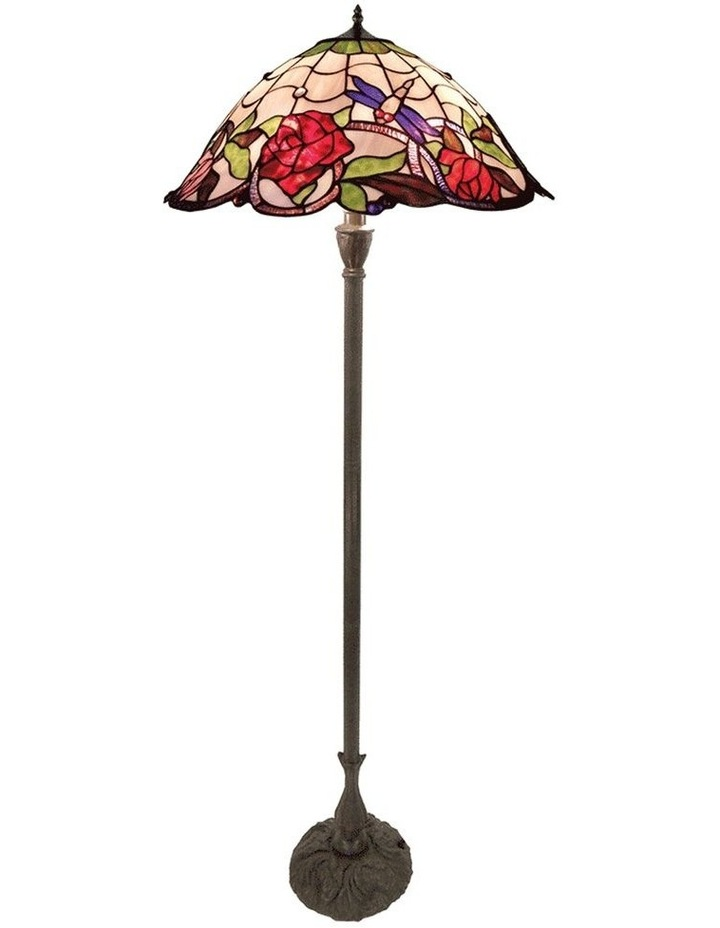 Rose and Dragonfly Tiffany Floor Lamp image 1