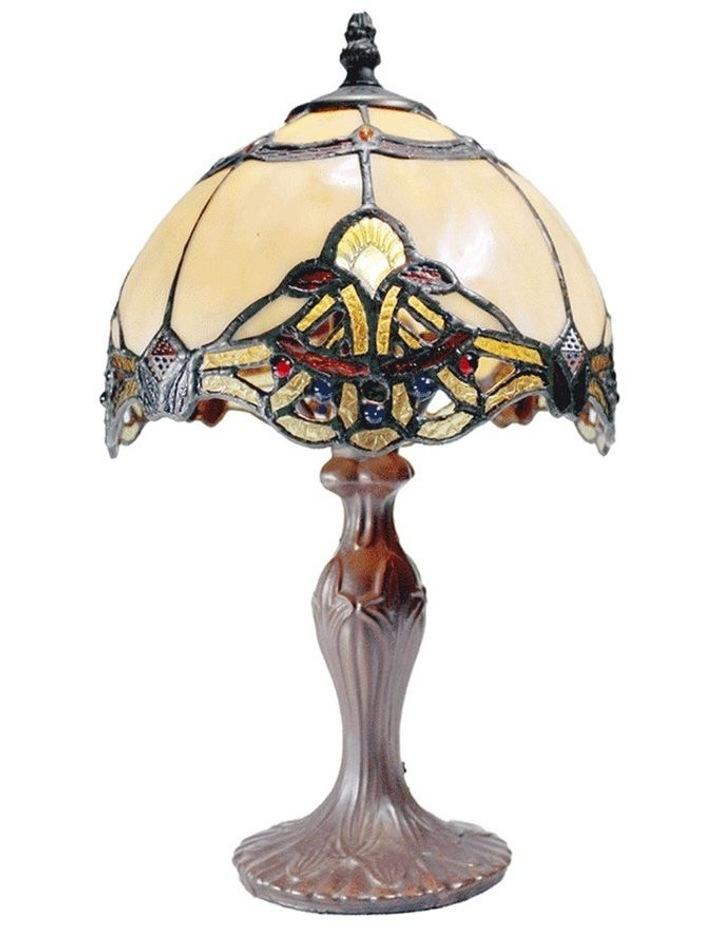 Benita Small Tiffany Table Lamp Beige image 1