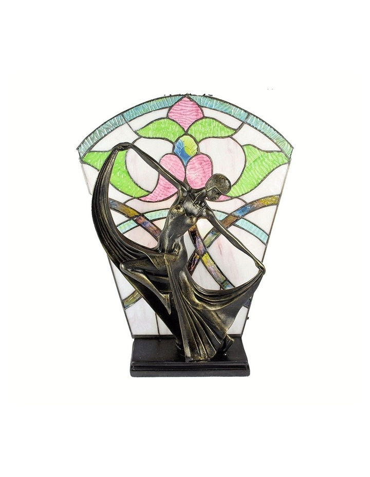 Leadlight Art Deco Table Lamp Floral image 1