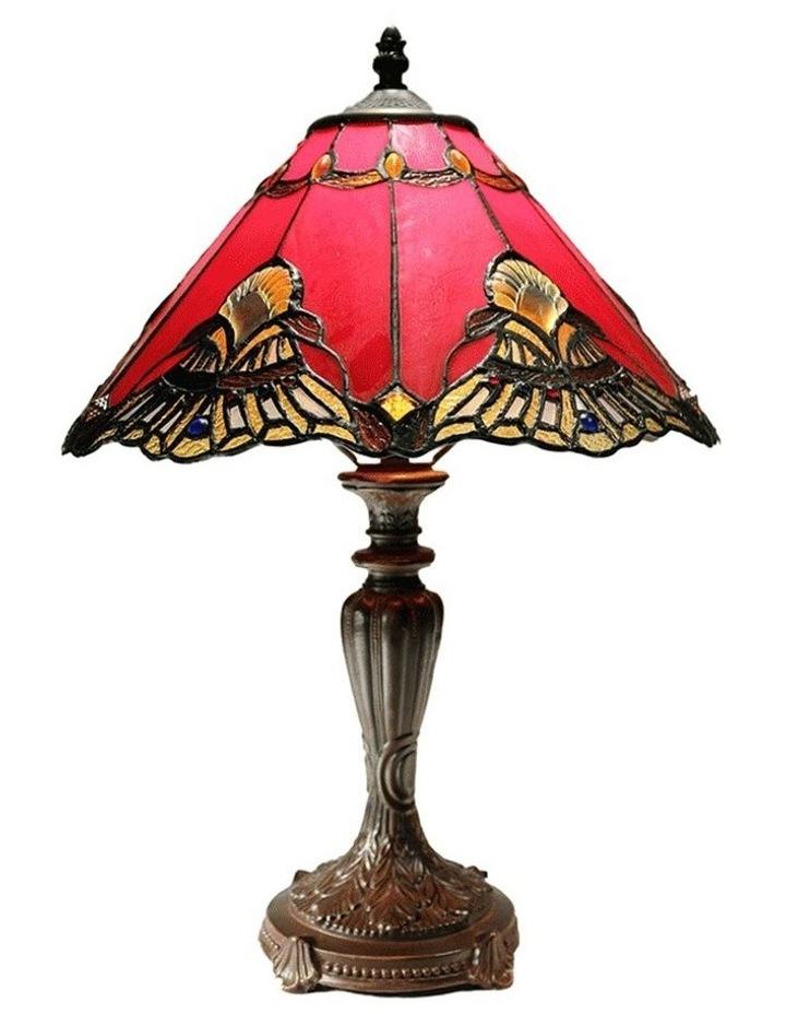 Benita Leadlight Tiffany Table Lamp - Red image 1