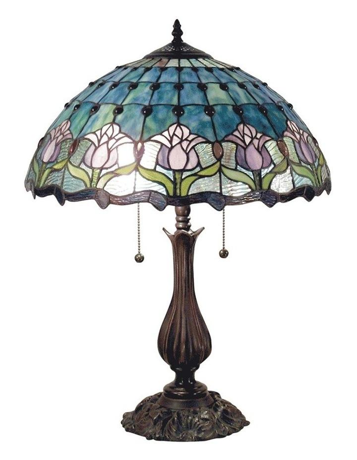 Mauve Tulip Tiffany Table Lamp image 1