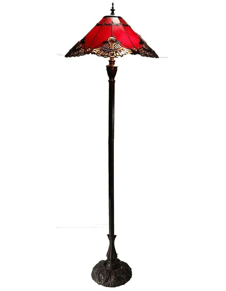 Benita Leadlight Tiffany Floor Lamp - Red image 1