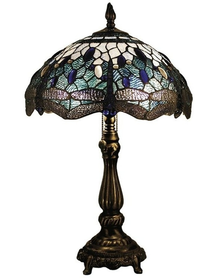 Blue Dragonfly Leadlight Tiffany Table Lamp image 1