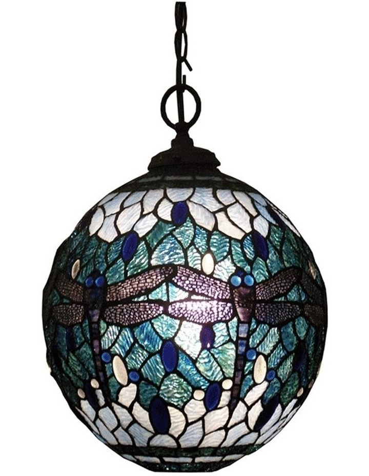 Blue Dragonfly Tiffany Pendant image 1
