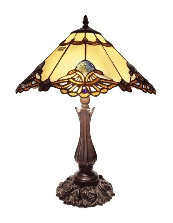 Large Benita Leadlight Tiffany Table Lamp image 1