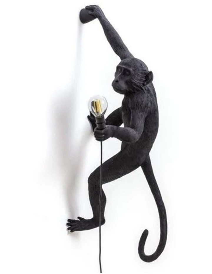 Seletti Wall Hanging Monkey Light Black | Righty Outdoor Safe image 1