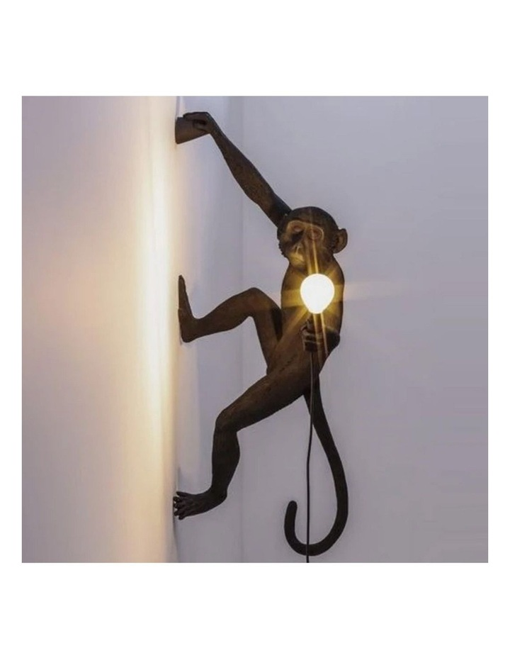 Seletti Wall Hanging Monkey Light Black | Righty Outdoor Safe image 2