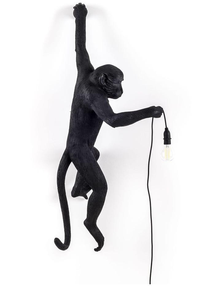 Seletti Wall Hanging Monkey Light Black | Lefty Outdoor Safe image 1
