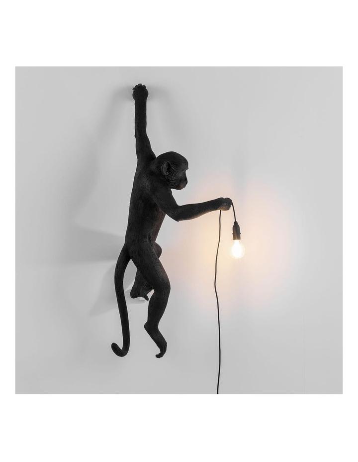 Seletti Wall Hanging Monkey Light Black | Lefty Outdoor Safe image 2