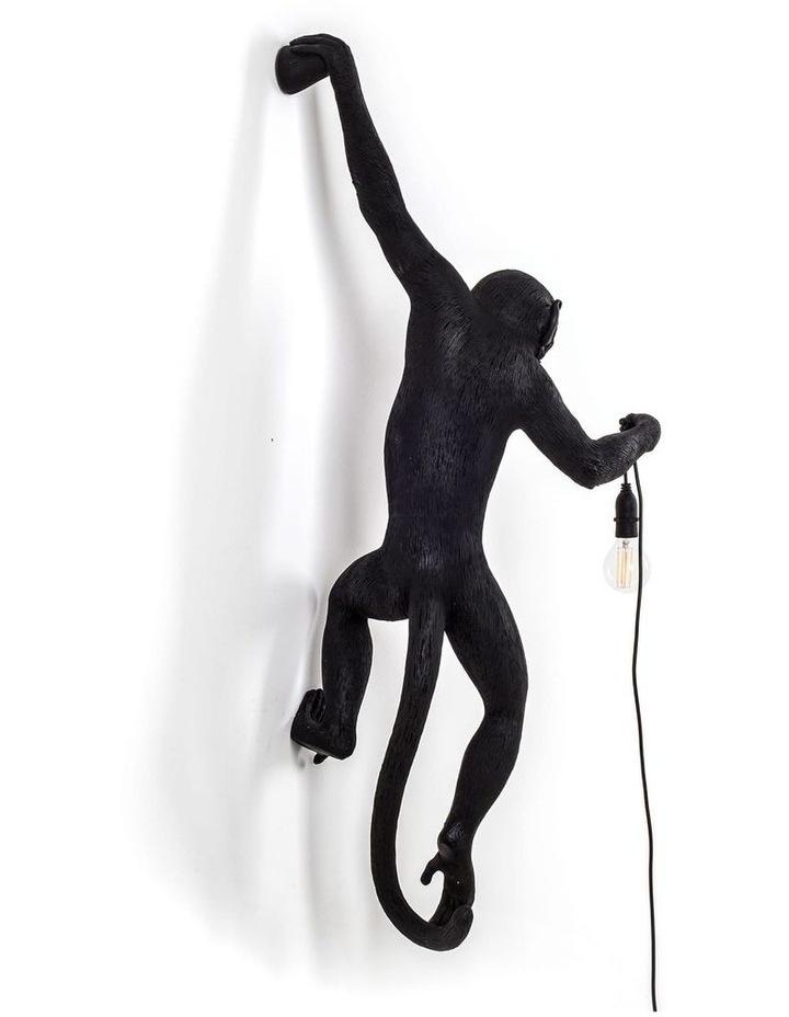 Seletti Wall Hanging Monkey Light Black | Lefty Outdoor Safe image 3