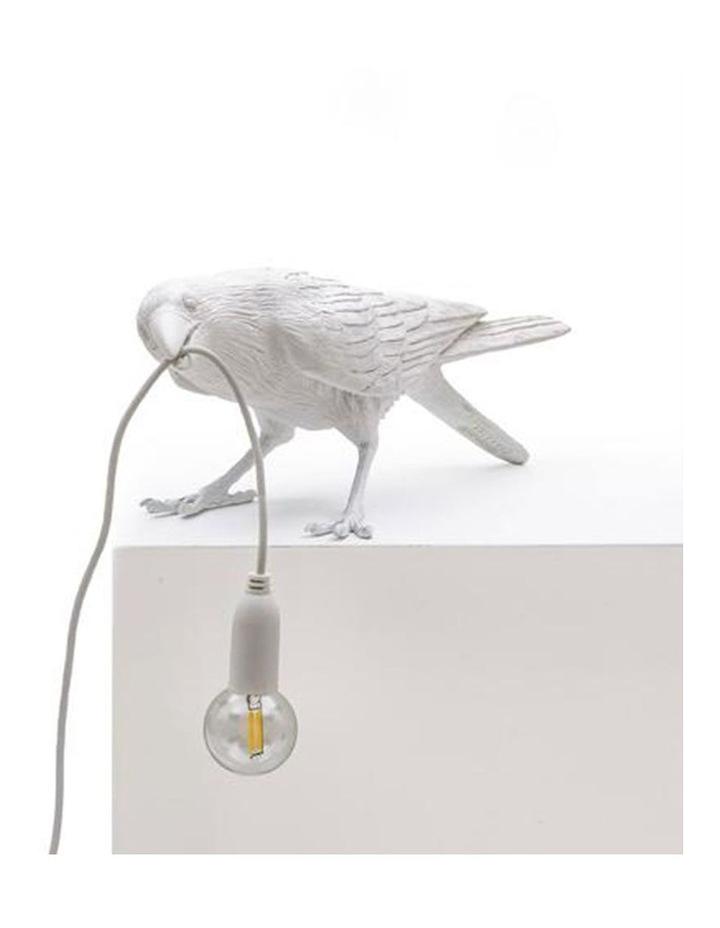 Bird Lamp Playing - White image 4