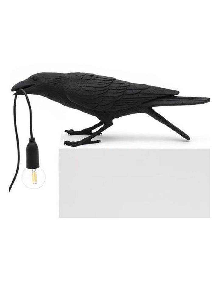 Bird Lamp Playing - Black image 1