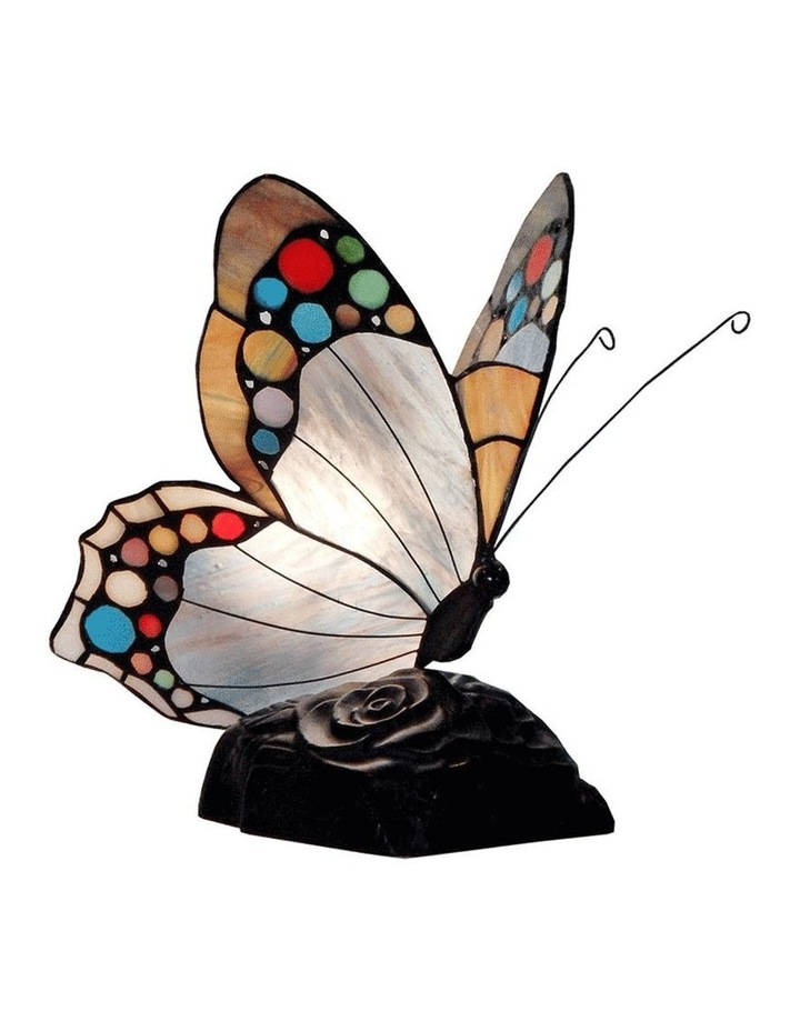 Spotted Butterfly Tiffany Table Lamp image 1