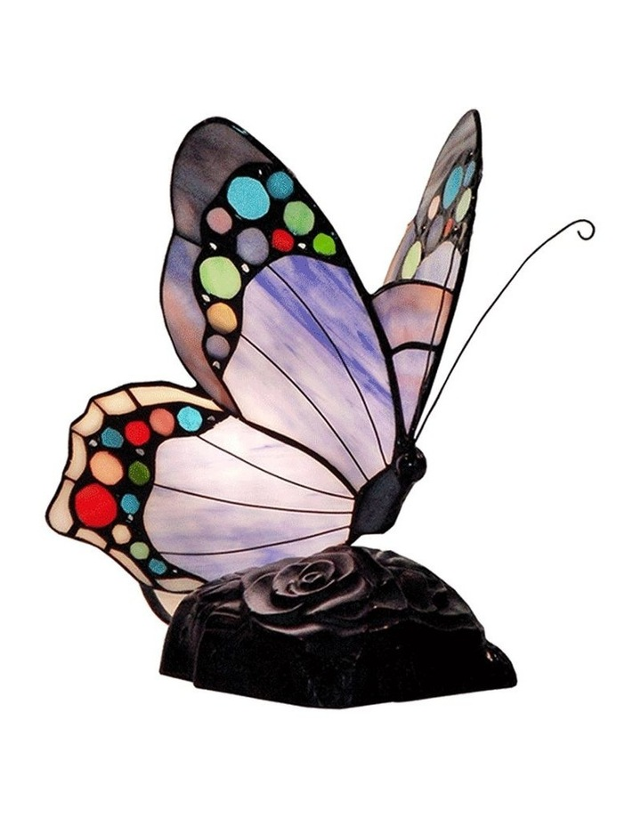 Spotted Butterfly Tiffany Table Lamp Purple image 1