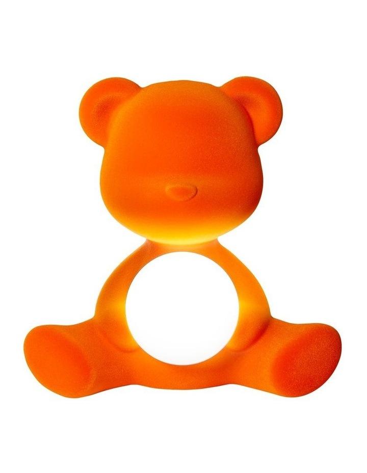 Teddy Girl Lamp Velvet Finish with Rechargeable LED - Orange image 1