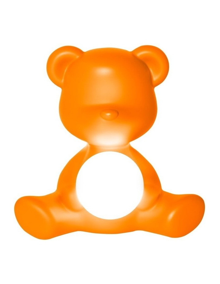 Teddy Girl Lamp with Rechargeable LED - Orange image 1