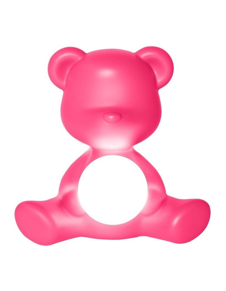 Teddy Girl Lamp with Rechargeable LED - Fuchsia image 1
