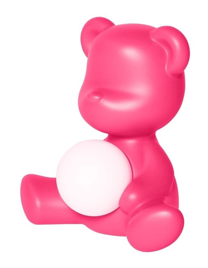 Teddy Girl Lamp with Rechargeable LED - Fuchsia image 2