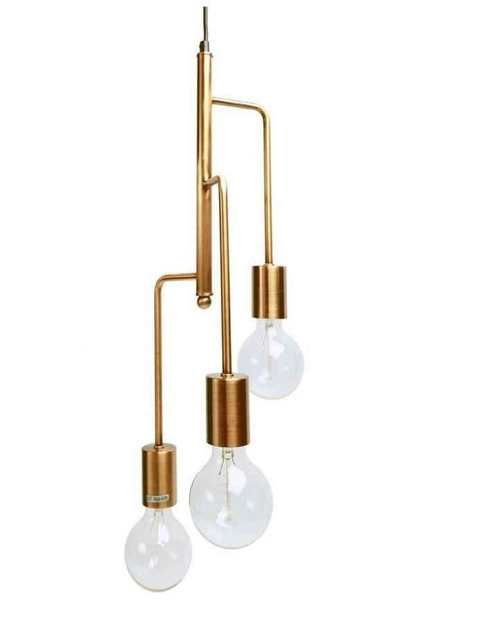 Rohan 3 Tubular Suspension Pendant Light Antique Brass image 1
