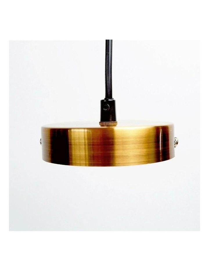 Rohan 3 Tubular Suspension Pendant Light Antique Brass image 2