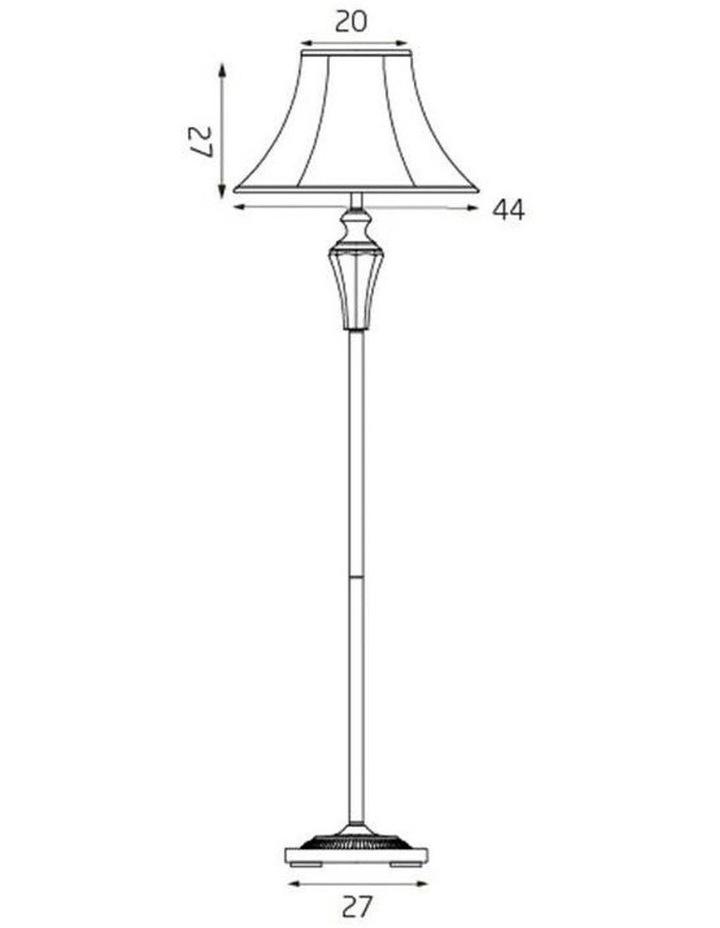 Vienna Crystal Brass Floor Lamp image 7