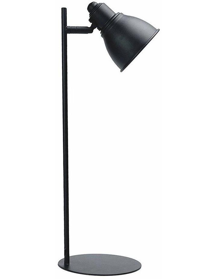 Kelvin Metal Table Desk Lamp Black LED Globe Included image 1
