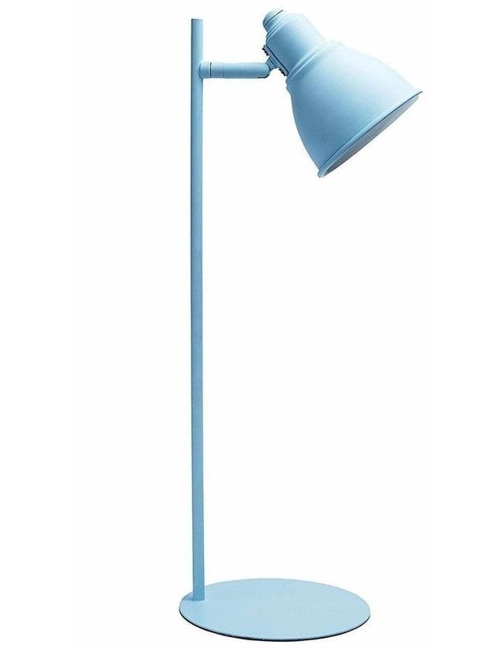 Kelvin Metal Table Desk Lamp Blue LED Globe Included image 1