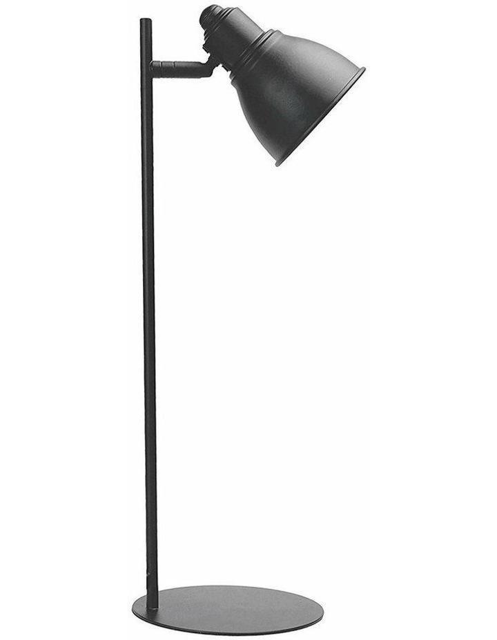 Kelvin Metal Table Desk Lamp Grey LED Globe Included image 1