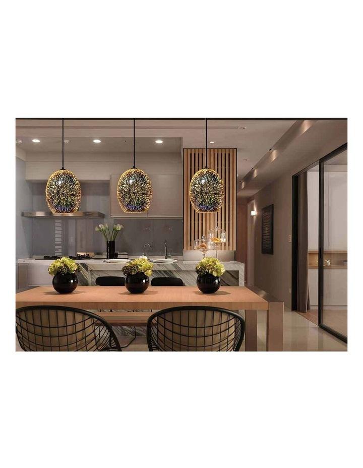 Moravian Glass Oval Pendant Light Copper image 3