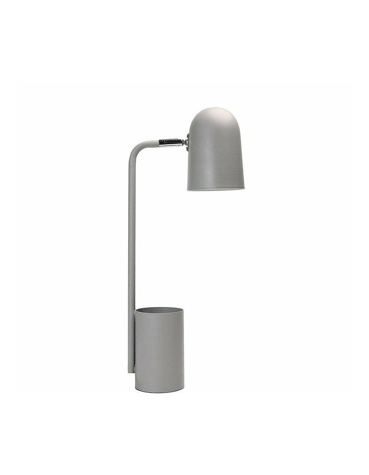 Keegan Pen Holder Desk Lamp Grey - Adjustable Head / Cylinder Base image 1