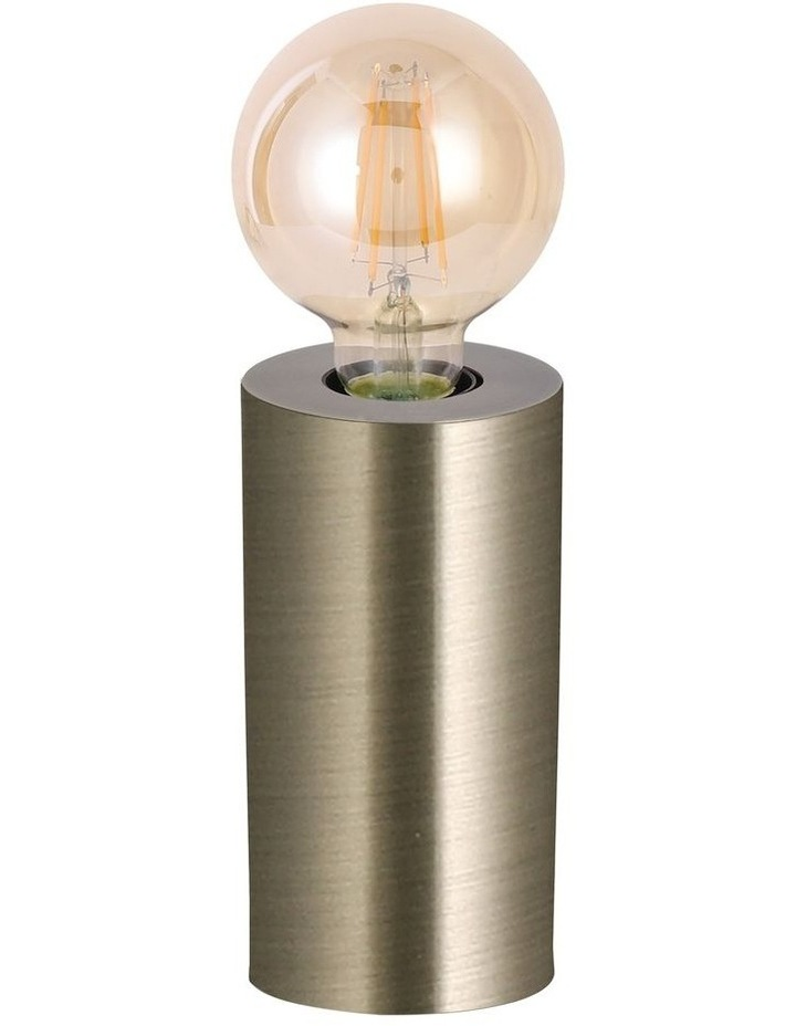 Marlo Touch Table Lamp Antique Bass LED Globe Included image 1