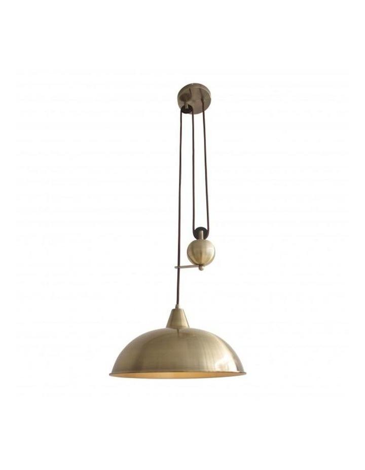Jess Rise & Fall Pendant Light Antique Brass image 1