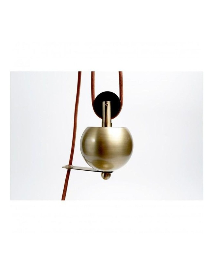 Jess Rise & Fall Pendant Light Antique Brass image 2