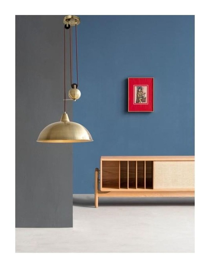Jess Rise & Fall Pendant Light Antique Brass image 5