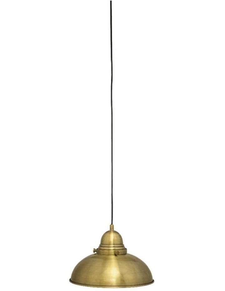 Manor Pendant Light - 1 Light Weathered Brass image 1