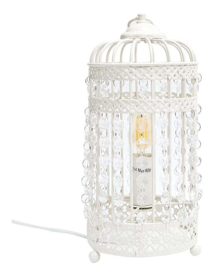 Harmony White Iron Birdcage Table Lamp image 1