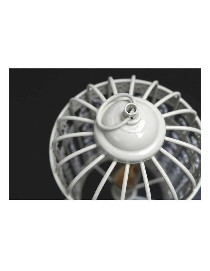 Harmony White Iron Birdcage Table Lamp image 2