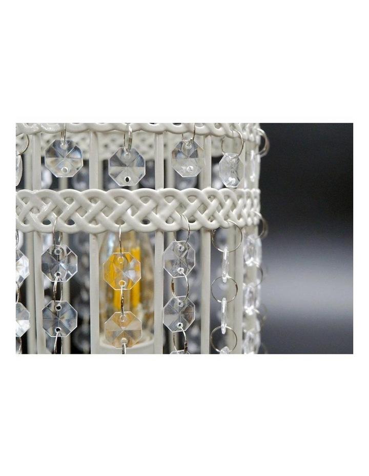 Harmony White Iron Birdcage Table Lamp image 3