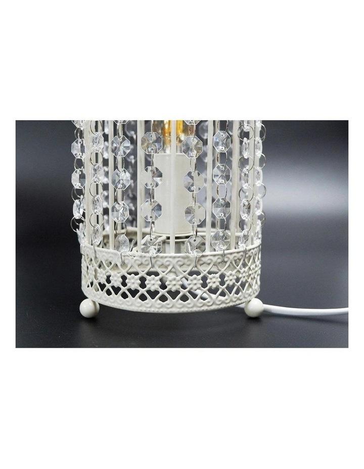 Harmony White Iron Birdcage Table Lamp image 4
