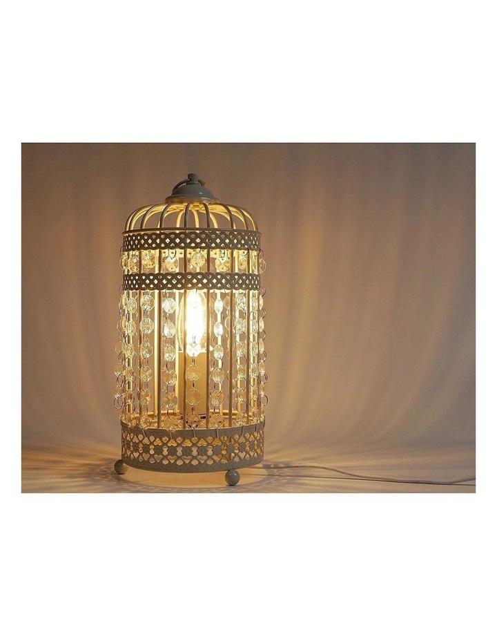Harmony White Iron Birdcage Table Lamp image 5
