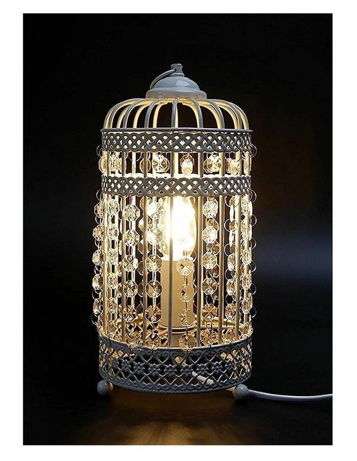 Harmony White Iron Birdcage Table Lamp image 6