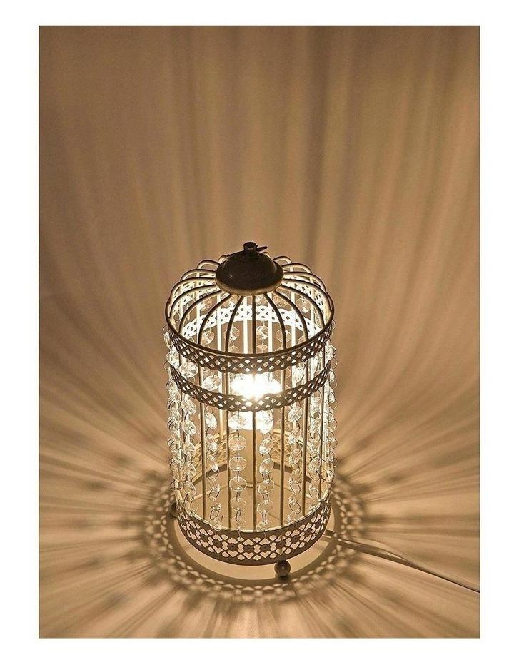Harmony White Iron Birdcage Table Lamp image 7