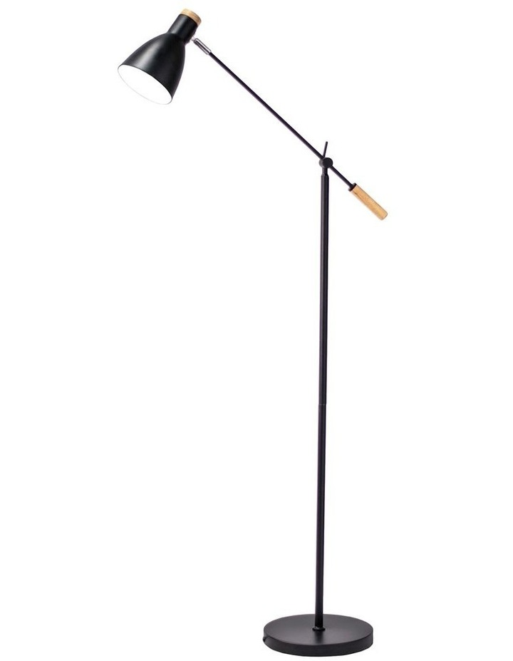 Scandinavian Style Adjustable Floor Lamp Black image 1