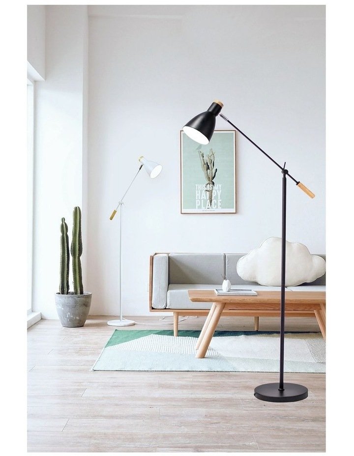 Scandinavian Style Adjustable Floor Lamp Black image 6