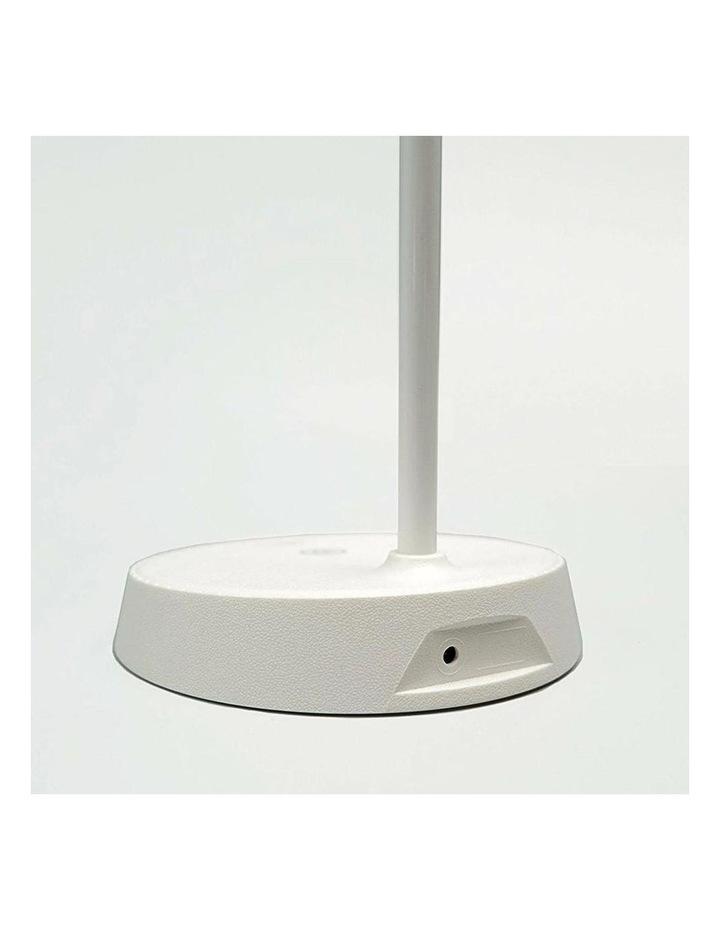 Inbuilt LED Touch Button Gooseneck Desk Lamp - Dual Power image 2