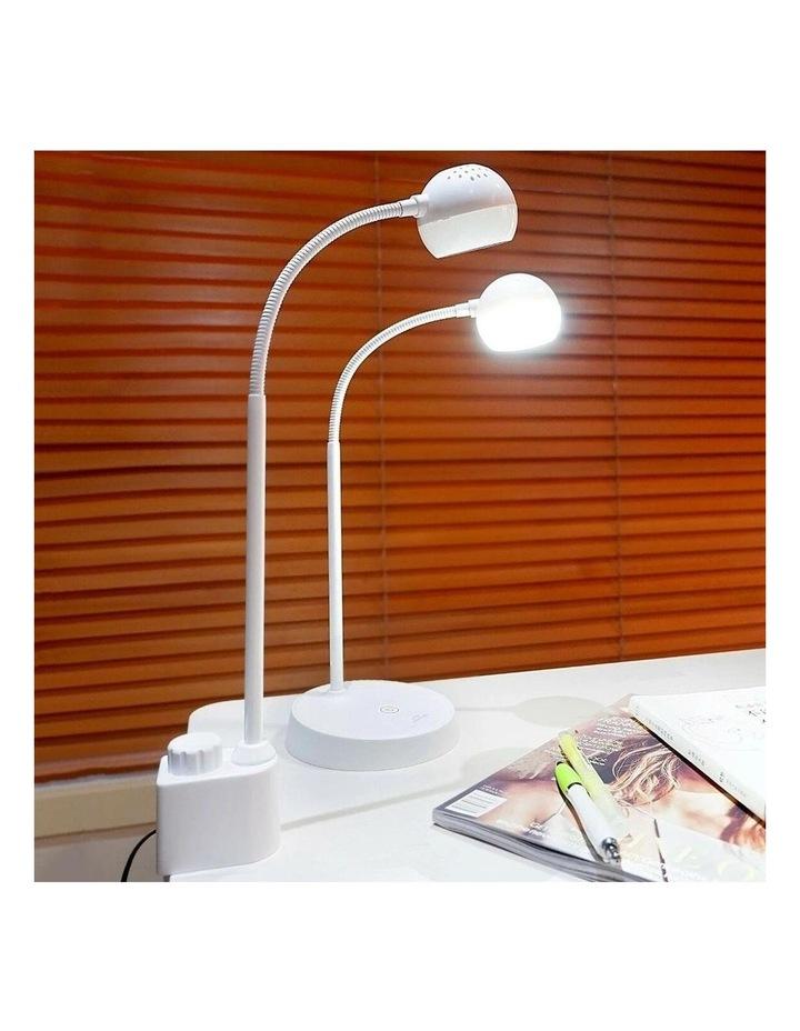 Inbuilt LED Touch Button Gooseneck Desk Lamp - Dual Power image 6